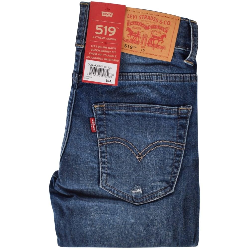 LEVIS JUNIOR Levis Junior Distressed 519 Extreme Skinny Jeans ... add2b55639b7
