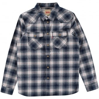 Levis Kids Checked Blue Shirt
