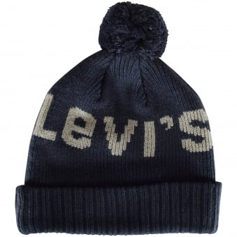Levis Kids Navy Logo Bobble Hat