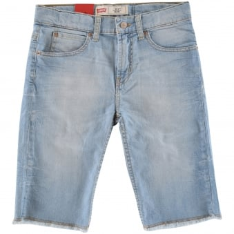 Levis Junior Light Wash Denim Shorts