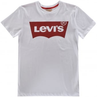 Levis Junior White Logo T-Shirt
