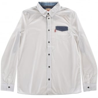 Levis Junior White Pocket Shirt