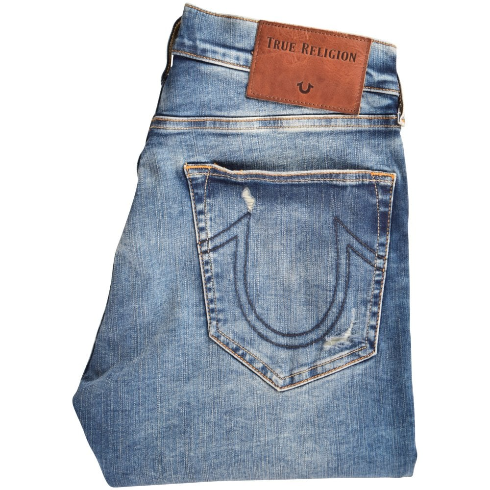 7b6f37d52ef TRUE RELIGION Light Blue Rocco Skinny Distressed Jeans - Men from  Brother2Brother UK