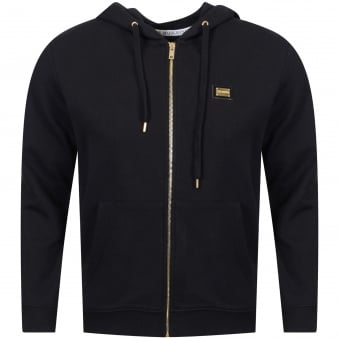 Love Moschino Black/Gold Badge Hoodie