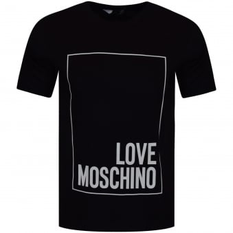 Love Moschino Black Large Logo T-Shirt