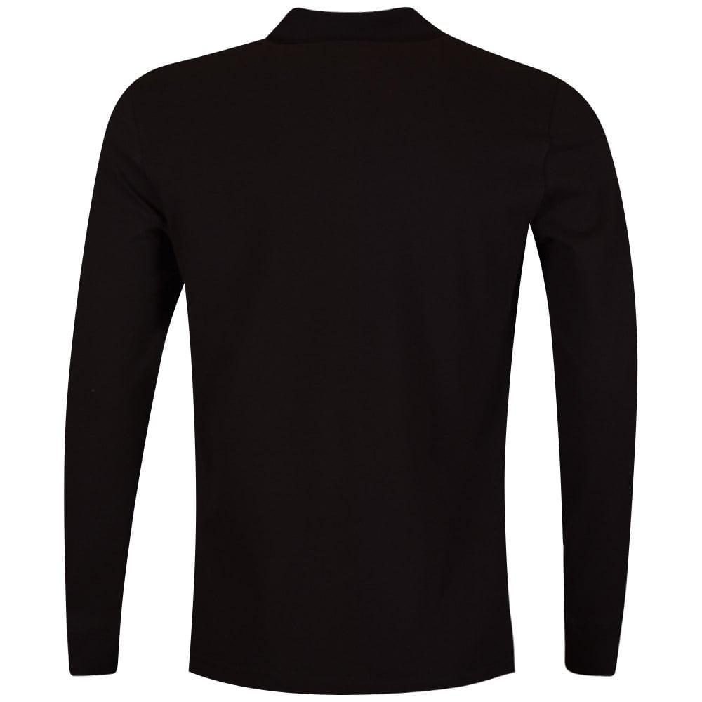 976af3145 LOVE MOSCHINO Love Moschino Black Love   Peace Longsleeve Polo Shirt ...