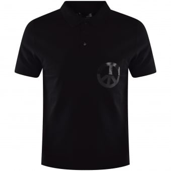 Love Moschino Black Pocket Logo Polo shirt