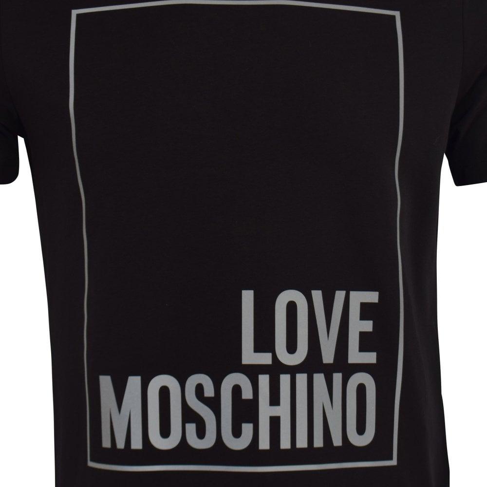 fda9fb23753 LOVE MOSCHINO Black Reflective Box Logo T-Shirt - Men from ...
