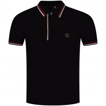 Love Moschino Black Striped Detailing Polo Shirt