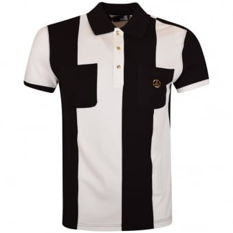 Love Moschino Black/White Stripe Pocket Polo Shirt