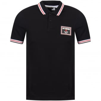 Love Moschino Love Moschino Black Stripe Detailing Polo Shirt