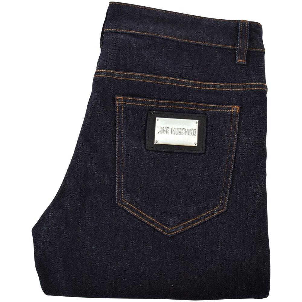 7eb5a97e19 LOVE MOSCHINO Love Moschino Metal Badge Denim Jeans - Department ...