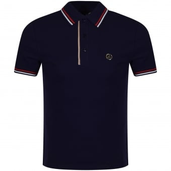 Love Moschino Navy Trim Polo Shirt