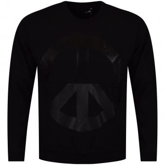 Love Moschino Peace Logo Sweatshirt