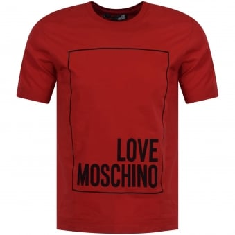 Love Moschino Red Crew Neck T-Shirt