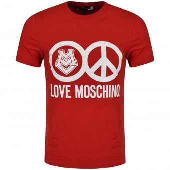 Love Moschino Red Peace T-Shirt
