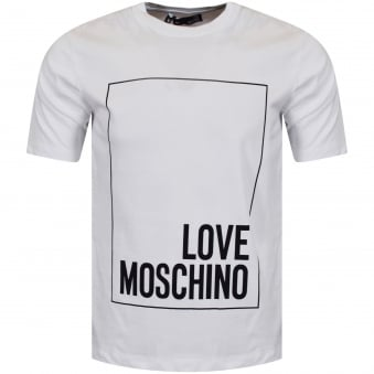 Love Moschino White/Black Logo T-Shirt