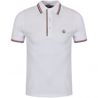 Love Moschino White Trim Polo Shirt