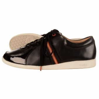 Luke 1977 Otto Black Patent Leather Trainer