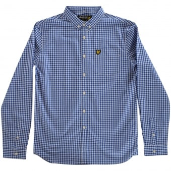 Lyle & Scott Blue Checked Shirt