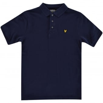 Lyle & Scott Boys Navy Short Sleeved Polo Shirt