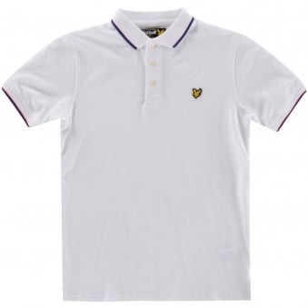 Lyle & Scott Boys White Short Sleeved Polo Shirt