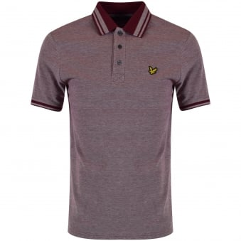Lyle & Scott Burgundy Contrast Polo Shirt