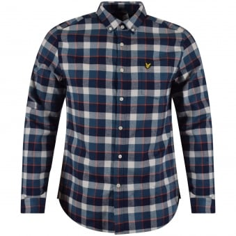 Lyle & Scott Checked Long Sleeved Shirt