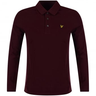 Lyle & Scott Claret Coloured Polo Shirt