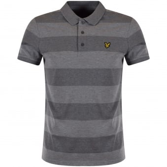 Lyle & Scott Grey Stripe Polo Shirt