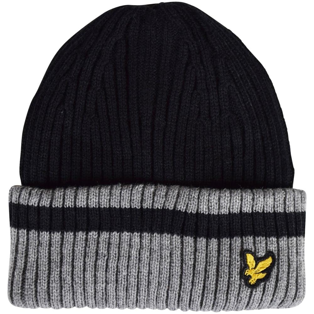 4d5f5ae49 Black/Grey Contrast Logo Beanie Hat