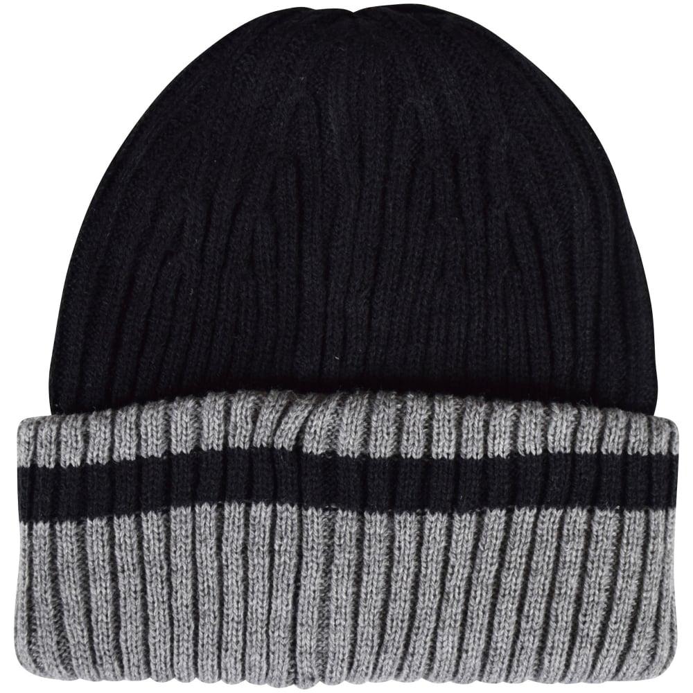 dfe8b0f48 Black/Grey Contrast Logo Beanie Hat