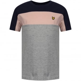 Lyle & Scott Junior Grey Heather Panel T-Shirt