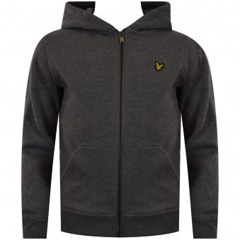 Lyle & Scott Junior Grey Zip Hoodie