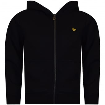 Lyle & Scott Boys Black Zip Through Hoodie