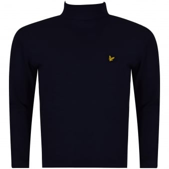 Lyle & Scott Boys Navy Long Sleeve Turtle Neck T-Shirt