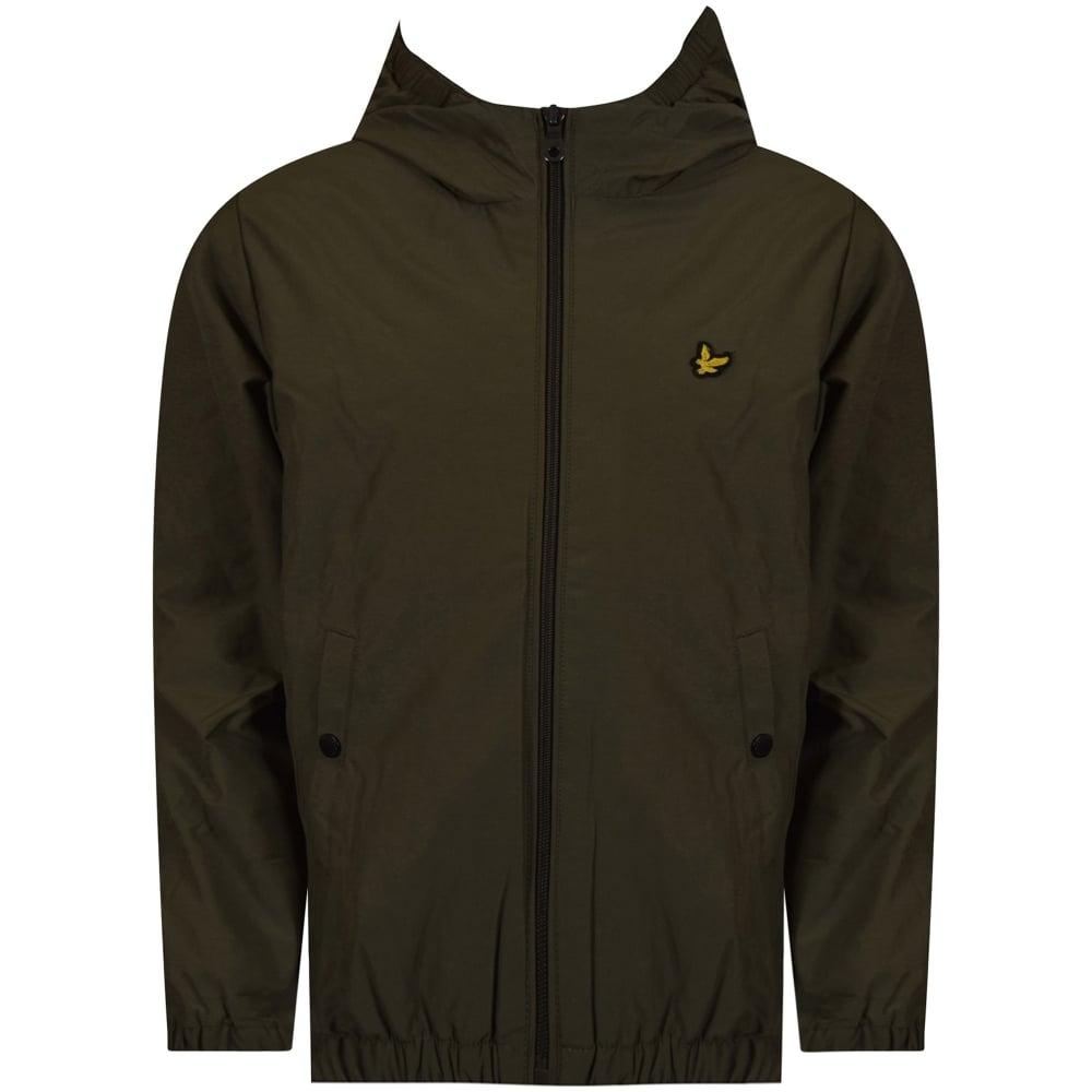 LYLE & SCOTT JUNIOR Lyle & Scott Boys Olive Windbreaker Jacket ...