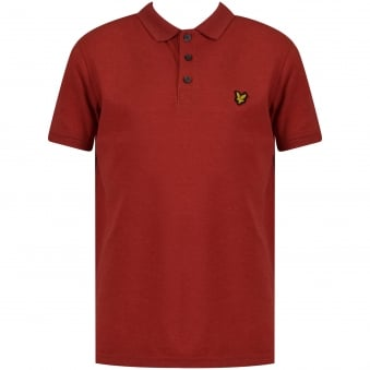 Lyle & Scott Boys Red Short Sleeve Polo Shirt