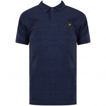Lyle & Scott Junior Navy Marl Logo Polo Shirt