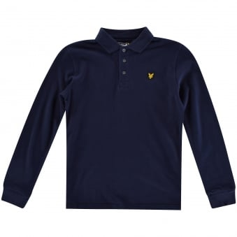 Lyle & Scott Kids Navy Long Sleeved Polo Shirt