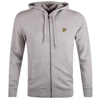 Lyle & Scott Light Grey Marl Zip Through Hoodie