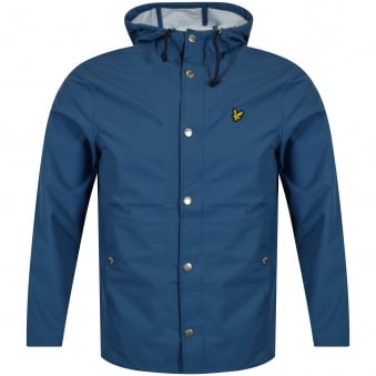 Lyle & Scott Light Teal Blue Logo Raincoat