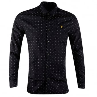 Lyle & Scott Navy All Over Print Long Sleeve Shirt