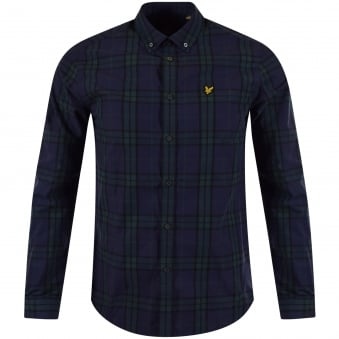 Lyle & Scott Navy Checked Shirt