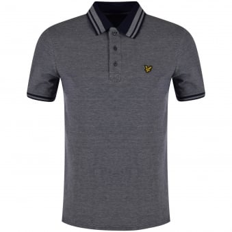 Lyle & Scott Navy Contrast Polo Shirt
