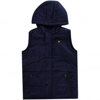 Lyle & Scott Navy Hooded Gilet