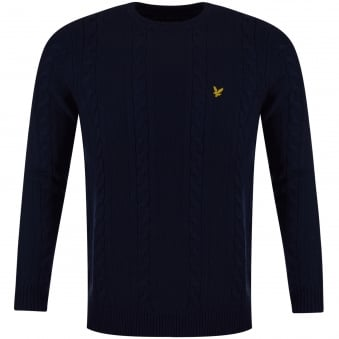 Lyle & Scott Navy Lambswool Jumper