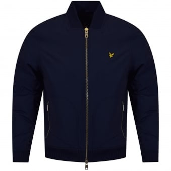 Lyle & Scott Navy Lightweight Bomber Jacket