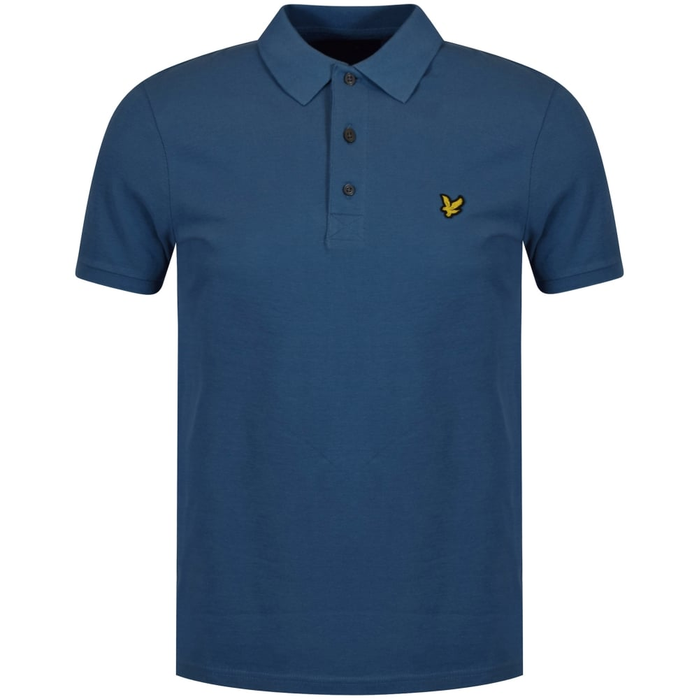 Lyle scott lyle scott teal blue polo shirt men from for Mens teal polo shirt