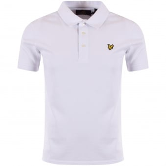 Lyle & Scott White Short Sleeved Polo Shirt